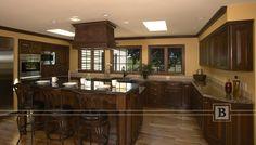 Elegant farmhouse kitchen, farmhouse sink, raised panel doors, stainless steel appliances