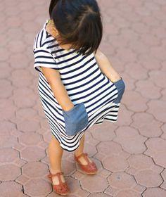 ZARA Kids `- Trendy Sandal & Striped Dress - #ZARABROTHERSANDSISTERS #KidsFashion