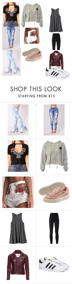 """""""dress shoping"""" by jay-queenslay ❤ liked on Polyvore featuring Sans Souci, RVCA, adidas Originals, VIPARO and adidas"""