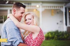Vintage couple / engagement photos. Kansas City Wedding / Engagement Photographer Sharaya Mauck Photography offering wedding, engagements and portraits. Vintage house, vintage picnic, married couple, photo session, engagement session, vintage engagement session.