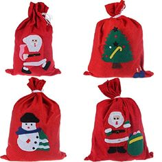 Bestpriceam 1pc New Santa Claus Gift Bag Candy Gift Bag Xmas Tree Party Decoration >>> You can find more details by visiting the image link.
