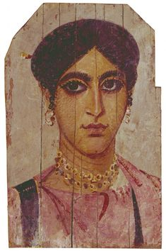 Faiyum Portrait of a Woman, late Century - Roman (Virginia Museum of Fine Arts, Richmond VA) Ancient Greek Sculpture, Statues, Roman Art, Encaustic Painting, Art Moderne, Egyptian Art, Ancient Artifacts, Ancient Rome, Museum Of Fine Arts