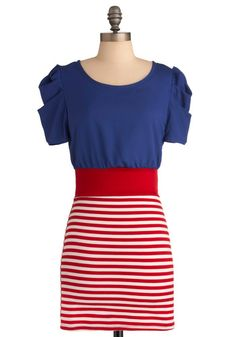 Dress, stripes. Fourth of July, 4th of July, Independence Day, Red White and Blue, Flag.