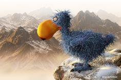 DODO - funny creature #dodo #funny #cartoon #animal #extinct #humor #bird #illustration