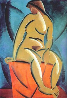 Vladimir Tatline (1885-1953), Nu (1913). Huile sur toile, Galerie nationale Tretiakov, Moscou.