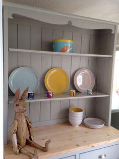 Farmhouse Welsh Dresser Pine Cabinet Cupboard Storage Kitchen Shabby Chic