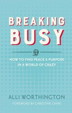 """I've heard it said that """"busy"""" is our new """"fine."""" Casually ask someone how they're doing today, and on autopilot, they might say they're fine—but chances are good they'll add, """"Fine, but busy. You?"""" It's like we don't even think """"busy"""" is a unique, situational status in our lives. It's strange to not be busy. …"""