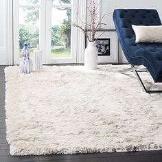 Safavieh Paris Shag Collection SG5111212 Ivory Polyester Area Rug 5 x 7 >>> Click image to review more details. Note: It's an affiliate link to Amazon