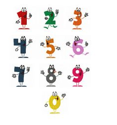Filled Designs Numbers ZERO TO NINE  Machine by TedandFriends, $10.00
