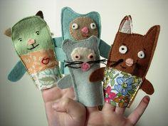 More finger puppet ideas. Cute!