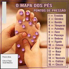Mapa para massagem nos pés                                                                                                                                                                                 Mais