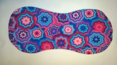 Multicolor Burp Cloth with Blue Topstitch - Flannel Print backed with Terry…