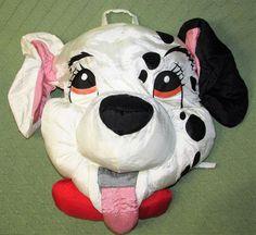 "Vintage Disney 101 DALMATIANS Nylon Pillow Play Faces 16"" Long Pillow Plush Toy #Disney"