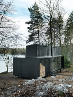 The Vipp Shelter - The Ultimate Prefab Home Comes Packed With Cool Features Architecture Design, Sustainable Architecture, Prefab Cabins, Prefab Homes, Cabin Design, House Design, Casas Containers, Small Buildings, Cabins In The Woods