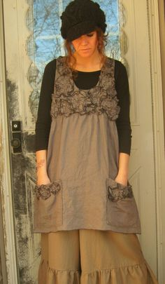 Scrunchy Flower Jumper by sarahclemensclothing on Etsy, $145.00