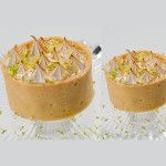 Mini Limão feito com: Massa sucreé, recheada de puro leite condensado de limão e cobertura de merengue gratinado.