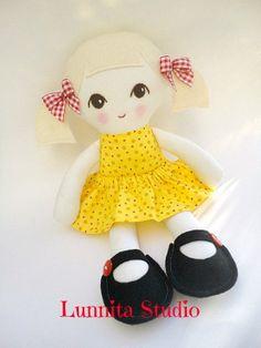 SALE...Handmade cloth doll... Eco-Friendly Doll... sweet doll