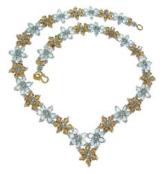 Crystal Flower Beaded Necklace Pattern | Bead-Patterns.com