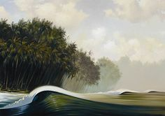 """""""Vanishing Point"""" by surf artist @Wade Barbour Barbour Koniakowsky"""