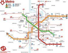 Prague metro map: Hope to be making use of this someday soon.