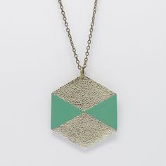 Collier sautoir graphique HEXA en cuir véritable : Collier par pretty-leather-things