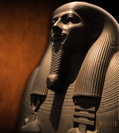 Siltstone sarcophagus of Sasobek, 26th Dynasty, around 630 B.C. (LOVE the warm background coloring)