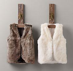 RH girls fur vests