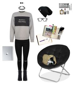 """""""Writer's Block"""" by blackmagicmomma ❤ liked on Polyvore featuring Être Cécile, Zimmermann, Loren Olivia, Belk & Co., Boohoo, Bare Escentuals, MAC Cosmetics, Greg Lauren and Vinyl Revolution"""