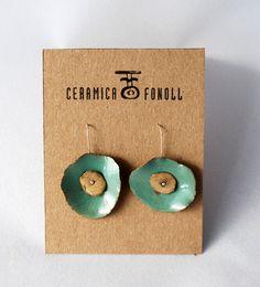 Pendientes de cerámica por CeramicaFonoll en Etsy