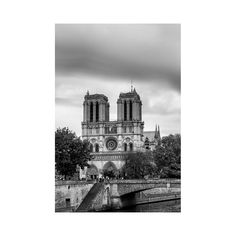 Paris Wall Art, Notre Dame Print, Europe City Photography, Travel Picture, Contemporary Artwork for Living Room, Black and White Art, 24x36