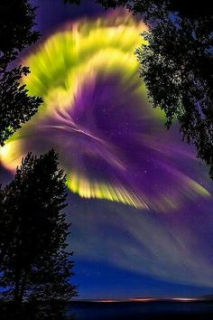 Northern Lights Over Russia