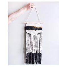 ooak wall hanging handmade cream black kaki and by nanoutriko