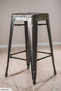 Metallic Industrial Silver Metal Bar Stool for sale on Trade Me, New Zealand's auction and classifieds website