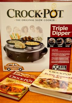 Triple Crock-Pot Giveaway with two cookbooks!