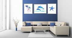 Buy two Get one FREE Sea world watercolor by LubaOstGallery