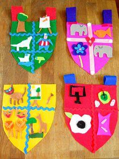 Making felt Coat of Arms - from Georgina Giles's lovely blog!