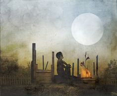 I see absorbtion of the Full Moon in this .  Artist Travis Smith, Site Seempieces