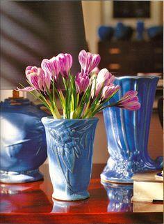 The Polished Pebble: Collecting Hull Pottery, Roseville Pottery, Mccoy Pottery, Ceramic Pottery, Pottery Art, Pottery Studio, Vintage Planters, Vintage Vases, Vintage Art