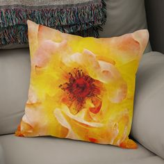 Discover «Closeup Peach Rose Fine Art», Numbered Edition Throw Pillow by Dreamframer - From $27 - Curioos