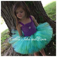 Vestido tutú de Ariel vestido de sirena por CaitlinsTutusandBows