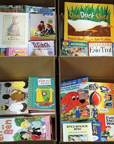 You can order a box of books from this site for $19.99. They will range from toddler to young adult books. Each box contains approximately 150 books (give or take). You can also order more age/grade specific books, but it costs a bit more. There is now an advisory on their site that due to high demand, boxes may not ship for up to 5 weeks, but for $19.99, that's a small price to pay :)