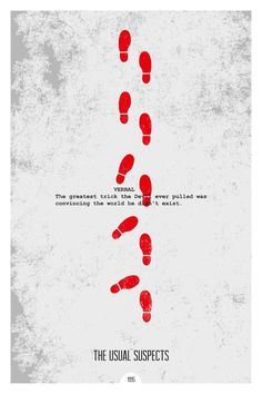 THE USUAL SUSPECTS 12x18 Minimal Movie Poster Print of Quote from the film.