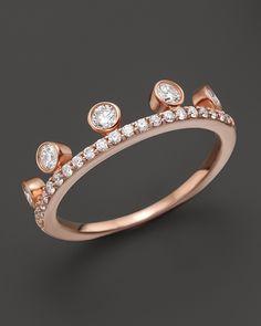Khai Khai Diamond Crown Ring in 18K Rose Gold, 0.45 ct. t.w. on shopstyle.com