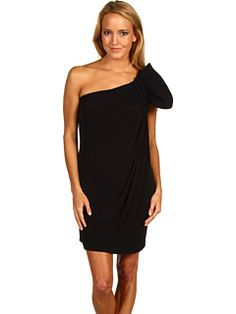 Classic black dress with a twist? Yes please. Calvin Klein CD1B1BFO One Shoulder Dress