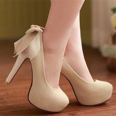 Bow Back High Heels
