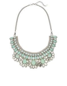 Antibes Pebble Statement Necklace | Blue | Accessorize
