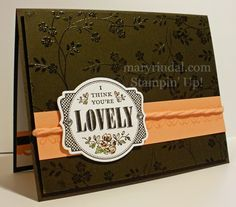 {scrap and stamp with mary}: You're Lovely stamp set