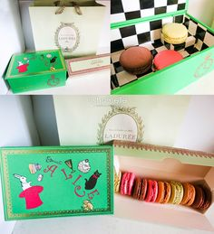 Alice in Wonderland music box (boîte à musique) and macarons from Ladurée PD