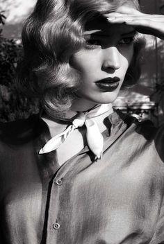 """Stills from a Movie,"" Alisa Ahmann by Camilla Åkrans for Vogue Italia March 2015"