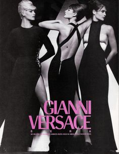 SUPERMODEL SHRINE : Linda, Christy and Helena for Gianni Versace, 1991 #supers #90s